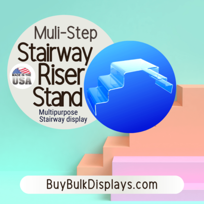 Acrylic stairway riser display stand