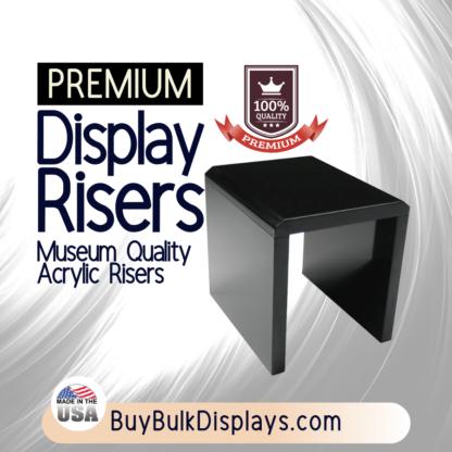 Black acrylic risers