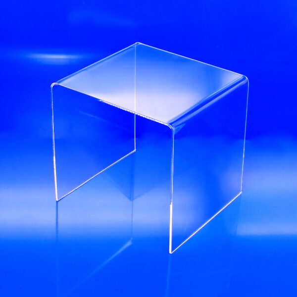 1/8 inch thick clear acrylic risers