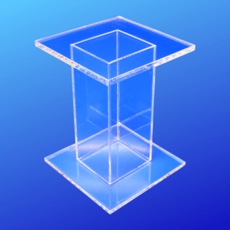 Acrylic square pedestal display riser stand
