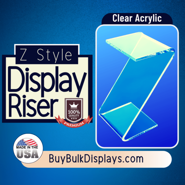 Clear acrylic Z style display riser stand