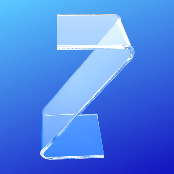 Clear acrylic Z style display risers