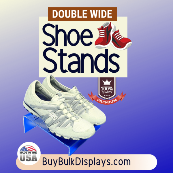 Clear acrylic double wide shoe stand riser