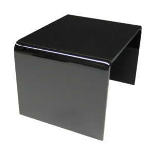 1/4 inch thick black acrylic display risers