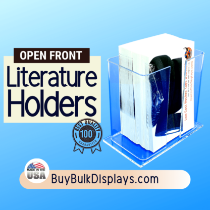 Literature holder with an open front