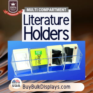 Literature holder with multiple compartments