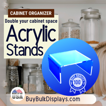 Organize and double your cabinet space with acrylic stands