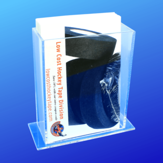 Acrylic rectangle literature holder on a base
