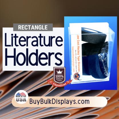 Rectangle literature holder compartment