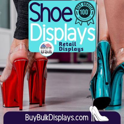 Retail display shoe display risers