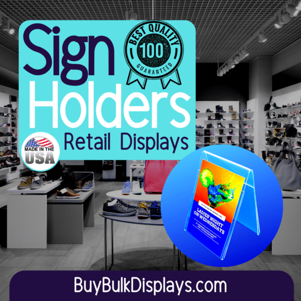 Retail display sign holders