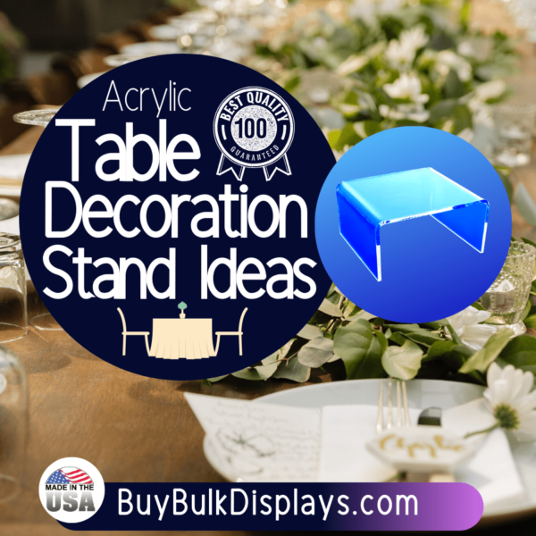 Table decoration stand ideas