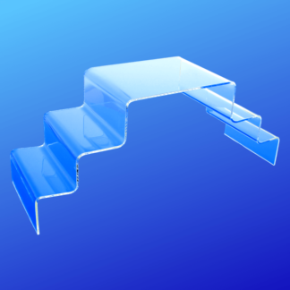 Acrylic stand with three levels for displaying items