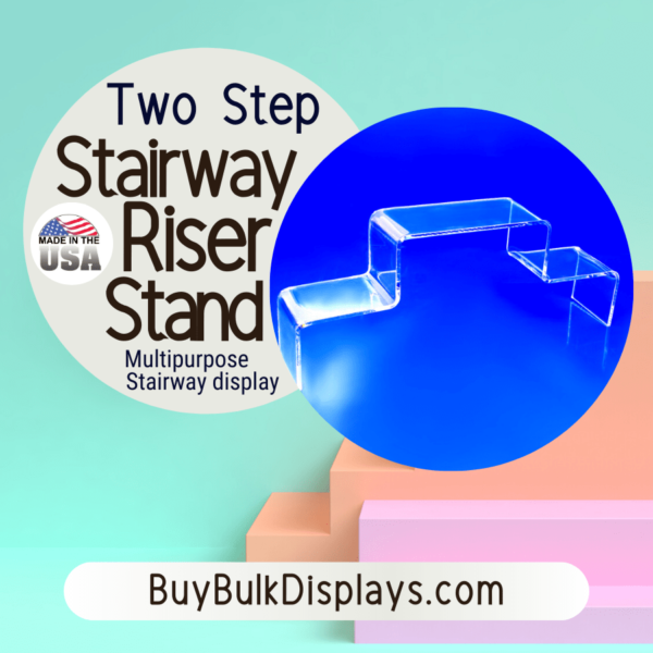Two step stairway display riser stand