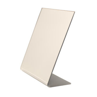 Vanity mirror made from acrylic with a slanted viewing angle
