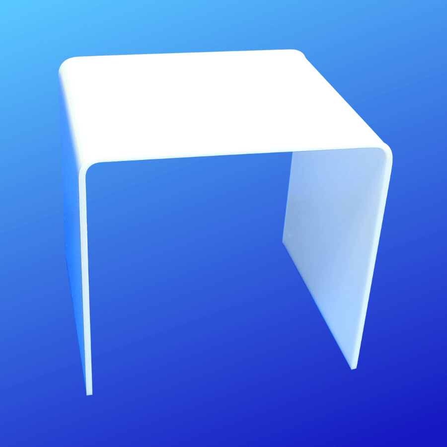 Opaque white acrylic display riser for displaying items