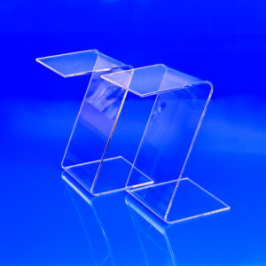 Z shaped acrylic display riser
