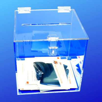 Acrylic box for contests, raffles and storage