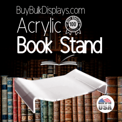Flat acrylic book stand display