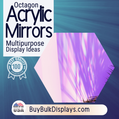 Octagon acrylic mirror for displaying items