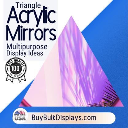 Triangle acrylic mirror display ideas