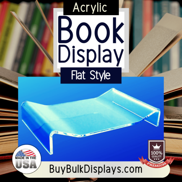 clear acrylic flat book display stand