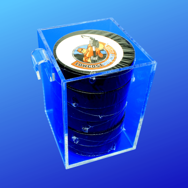 Acrylic bin for attaching to grid walls