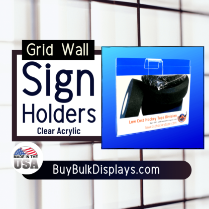 Grid wall sign holder