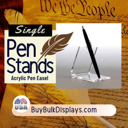 Single acrylic pen easel