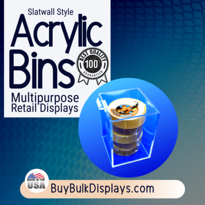 Slatwall display bins
