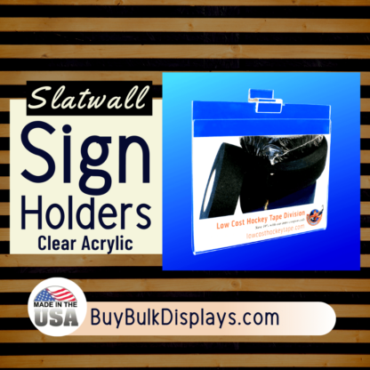 Slatwall sign holders