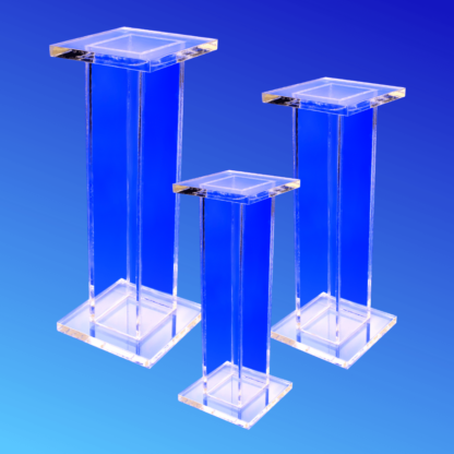 Tall acrylic display stand made from thick acrylic
