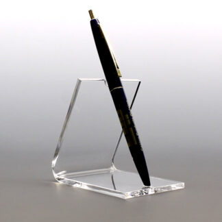 Clear acrylic stands holding a single pen upgright