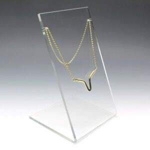 clear acrylic single necklace display
