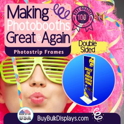 Double sided acrylic frames for photostrips