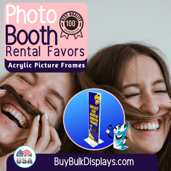 Double sided acrylic picture frames for photo booth rental favors