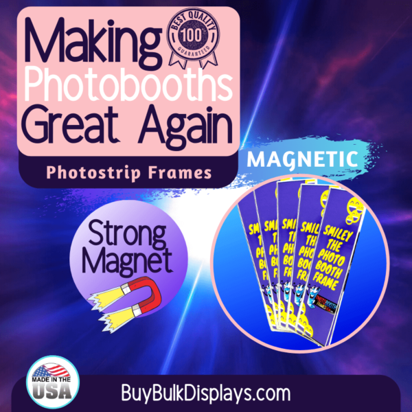 Magnetic acrylic frames for photobooth strips
