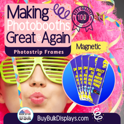 Magnetic acrylic frames for photostrips
