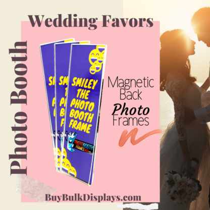 Magnetic back acrylic frames for photo booth wedding favors