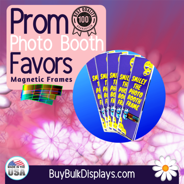 Magnetic frames for Prom photo booth favors
