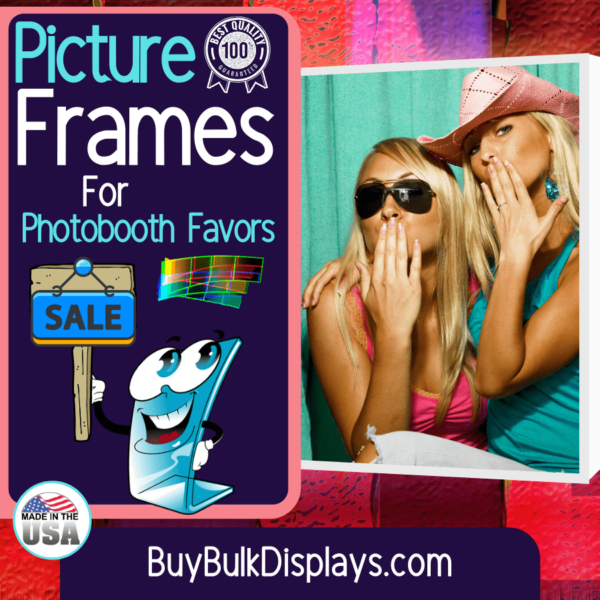 Picture frames for photo booth favors