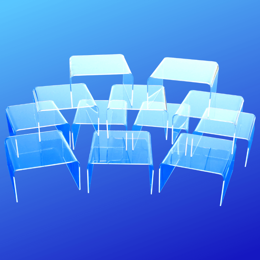 12 display risers 4 inches wide