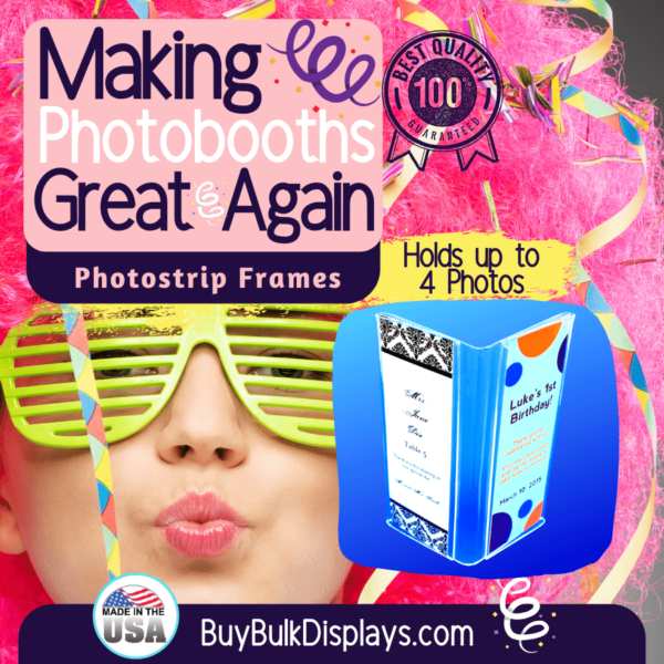 Hold up to 4 photostrips or inserts
