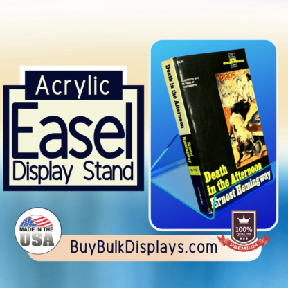 Acrylic easel display stand