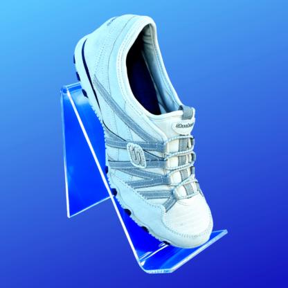 Acrylic shoe riser display