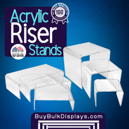 Acrylic riser stands