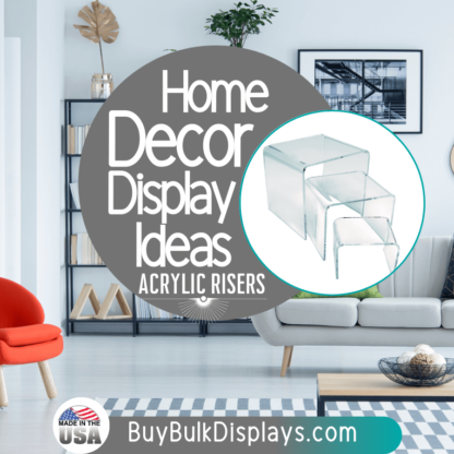 Home decor display ideas clear acrylic risers
