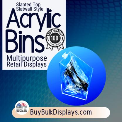 Slatwall display bin