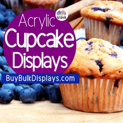 Acrylic cupcake displays