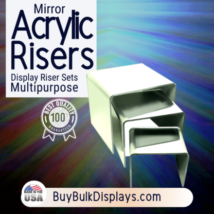 Acrylic mirror risers